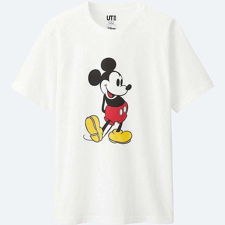 MICKEY STANDS SHORT SLEEVE GRAPHIC T-SHIRT, WHITE, large