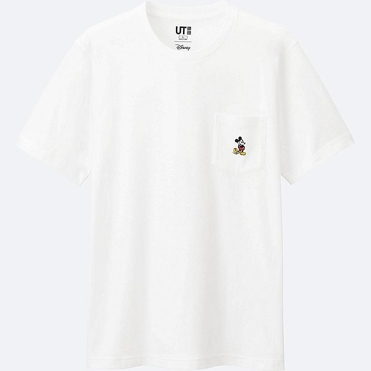 MEN Mickey Stands Short Sleeve Pocket T-Shirt
