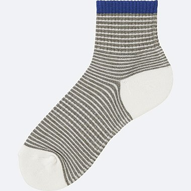 MEN Pile Narrow Striped Half Socks
