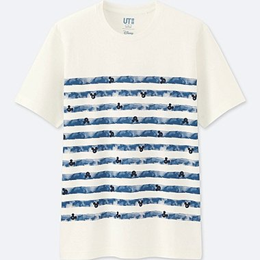 MEN MICKEY BLUE SHORT SLEEVE GRAPHIC T-SHIRT, WHITE, medium