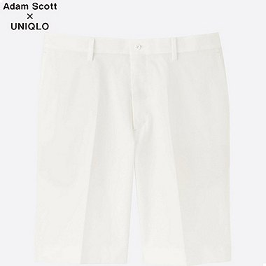 MEN DRY STRETCH (KANDO) SHORTS, WHITE, medium