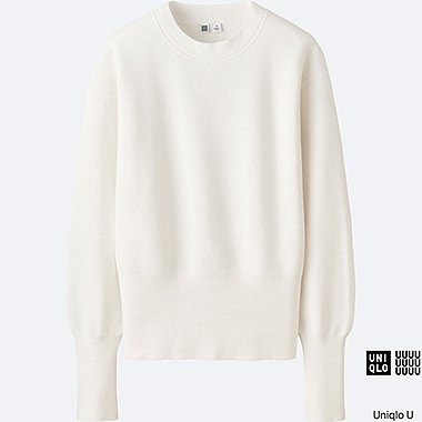 WOMEN Uniqlo U Milano Ribbed Crew Neck Sweater
