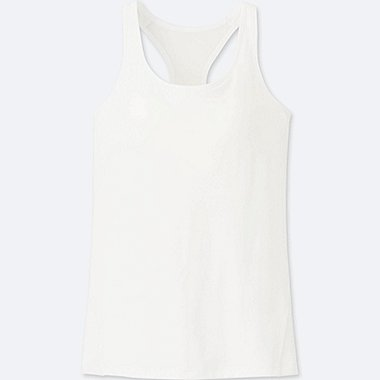 WOMEN AIRism RACERBACK BRA SLEEVELESS TOP, WHITE, medium