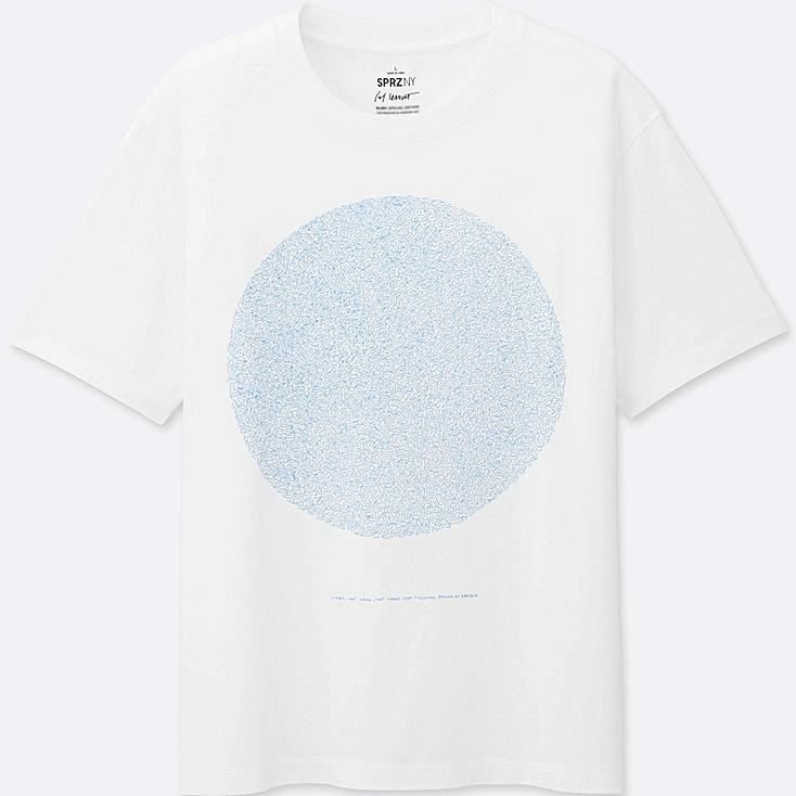 MEN SPRZ NY Super Geometric GRAPHIC T-SHIRT (SOL LEWITT), WHITE, large