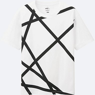 MEN SPRZ NY Super Geometric GRAPHIC T-SHIRT (FRANCOIS MORELLET), WHITE, medium