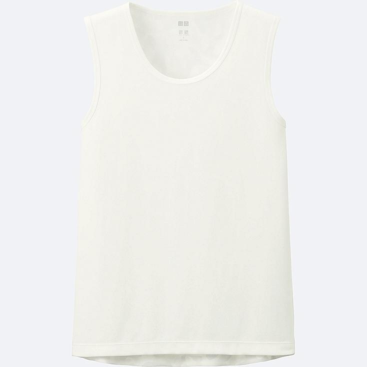 MEN DRY-EX SLEEVELESS T-SHIRT, WHITE, large
