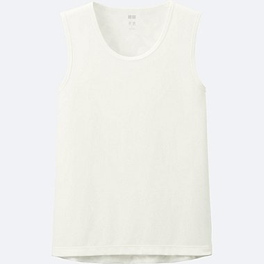 MEN DRY-EX SLEEVELESS T-SHIRT, WHITE, medium