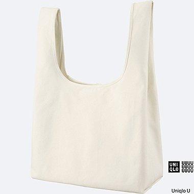 U CANVAS TOTE BAG, WHITE, medium