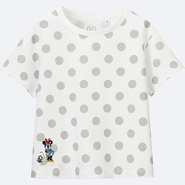 GIRLS Disney (Minnie Mouse Loves Dots) GRAPHIC T-SHIRT, WHITE, medium