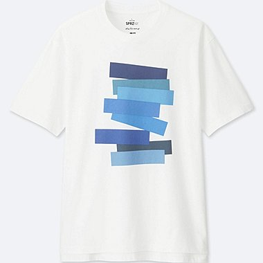 MEN SPRZ NY  GRAPHIC T-SHIRT (Josef Albers), WHITE, medium