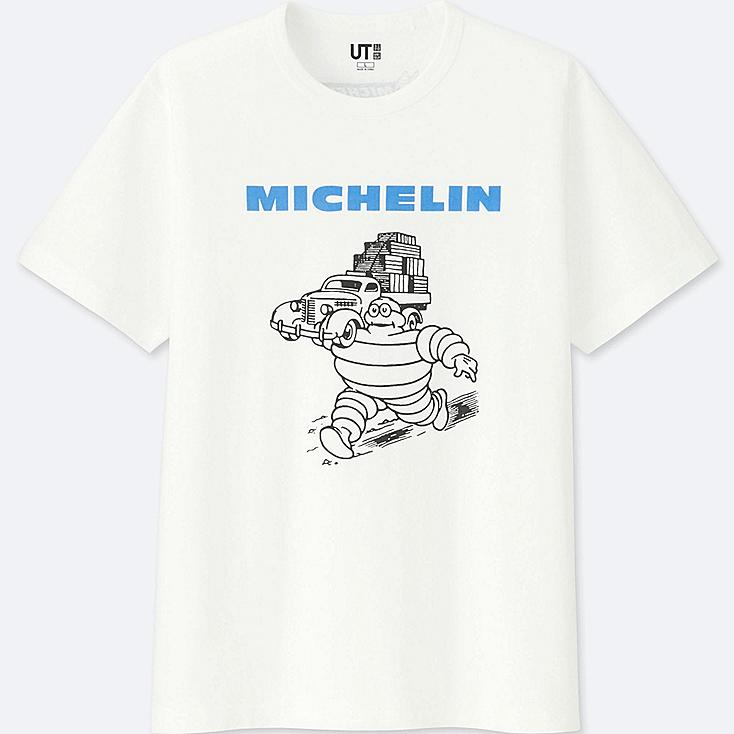 MEN  THE BRANDS SHORT-SLEEVE GRAPHIC T-SHIRT (MICHELIN), WHITE, large
