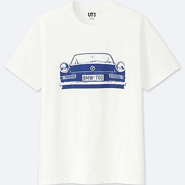 MEN THE BRANDS SHORT-SLEEVE GRAPHIC T-SHIRT (BMW), WHITE, medium