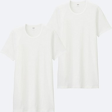 MEN Supima Cotton Rib T-Shirt (Short Sleeve) - 2 Pack