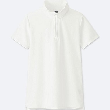 WOMEN DRY-EX SHORT-SLEEVE POLO SHIRT, WHITE, medium