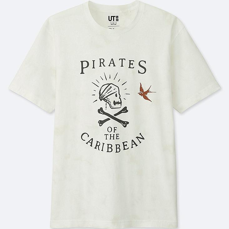 Pirates Of The Caribbean Graphic T-Shirt, WHITE, large