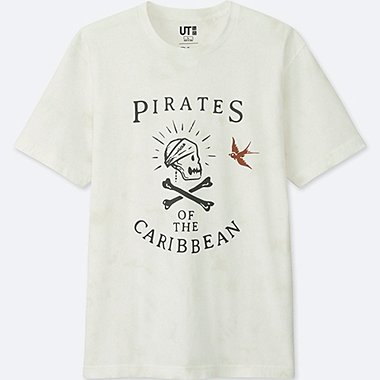 Pirates Of The Caribbean Graphic T-Shirt, WHITE, medium
