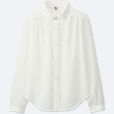 GIRLS RAYON PETER PAN COLLAR BLOUSE