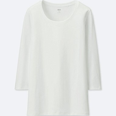 DAMEN SUPIMA COTTON T-SHIRT 3/4 ARM RUNDHALS