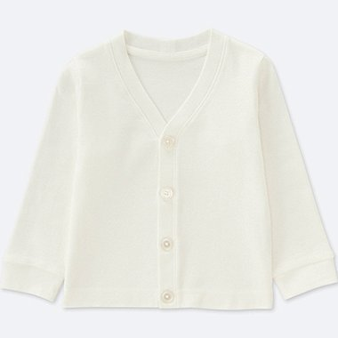 TODDLER COTTON LONG-SLEEVE CARDIGAN, WHITE, medium