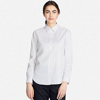 WOMEN SUPIMA COTTON STRETCH LONG SLEEVED SHIRT