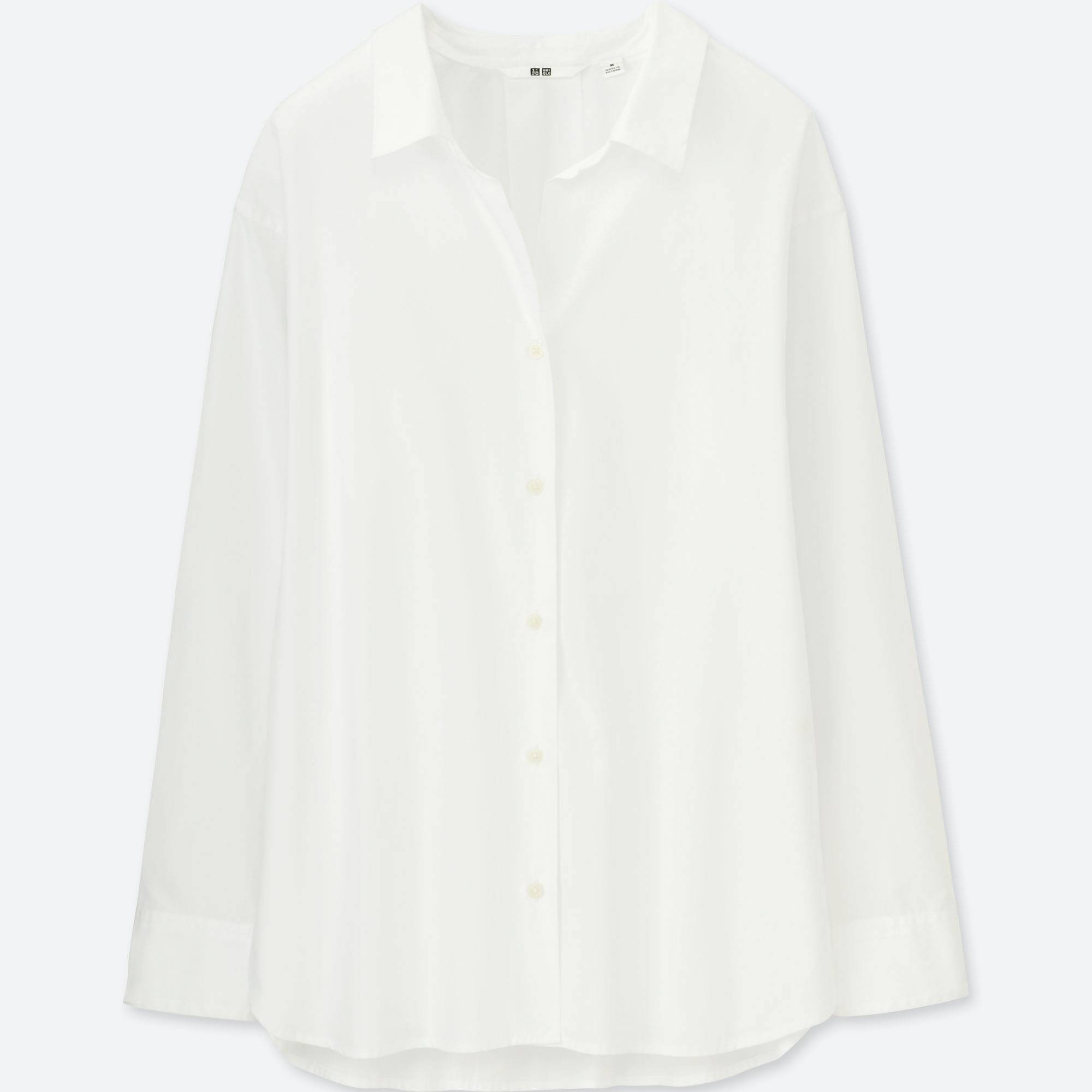 1c7b04f2 David Wej Plain Cotton Shirt- White. WOMEN EXTRA FINE COTTON LONG-SLEEVE  SHIRT | UNIQLO US