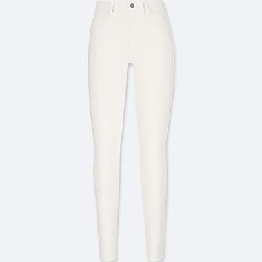 WOMEN LEGGINGS PANTS, WHITE, medium