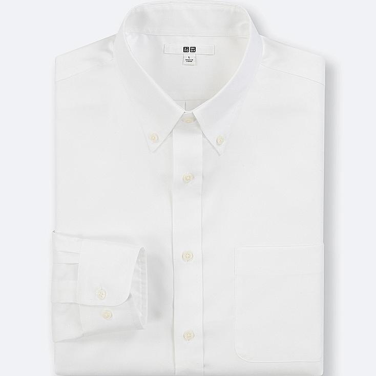 MEN EASY CARE OXFORD REGULAR-FIT LONG-SLEEVE SHIRT (ONLINE EXCLUSIVE), WHITE, large