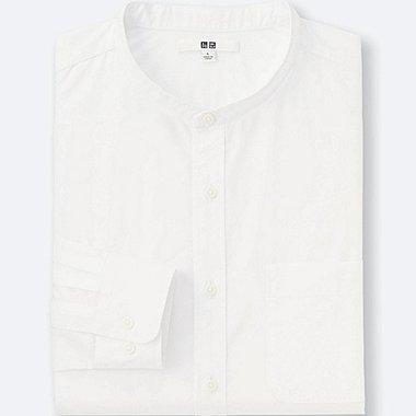 Camisa de algodón paño fino cuello mao manga larga HOMBRE