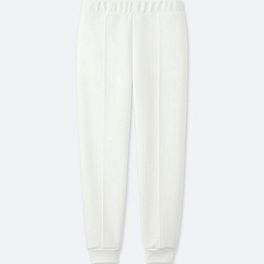 WOMEN DRY STRETCH SWEAT PANTS, WHITE, medium