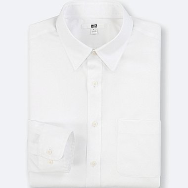 MEN EASY CARE BROADCLOTH REGULAR-FIT SHIRT (ONLINE EXCLUSIVE), WHITE, medium
