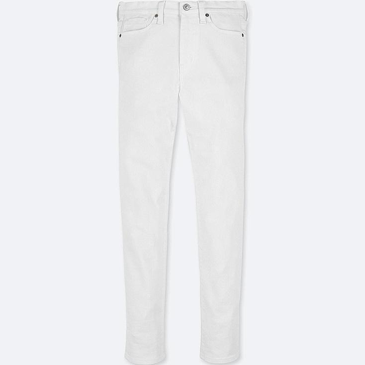 WOMEN HIGH-RISE CIGARETTE JEANS, WHITE, large