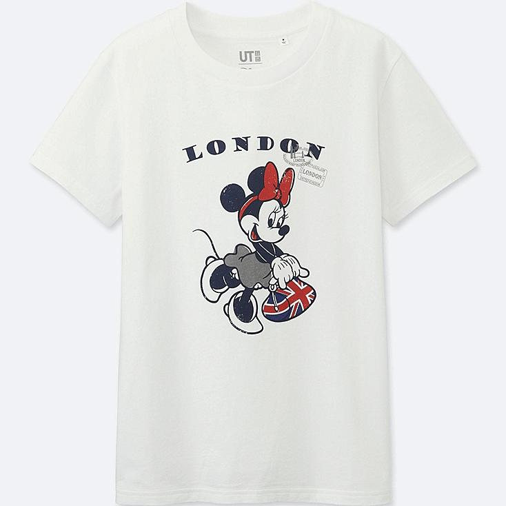 WOMEN MICKEY TRAVELS SHORT-SLEEVE GRAPHIC T-SHIRT, WHITE, large