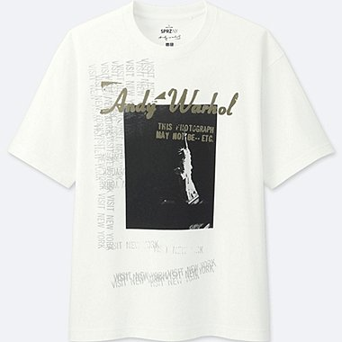 men sprz ny short-sleeve graphic t-shirt (andy warhol)