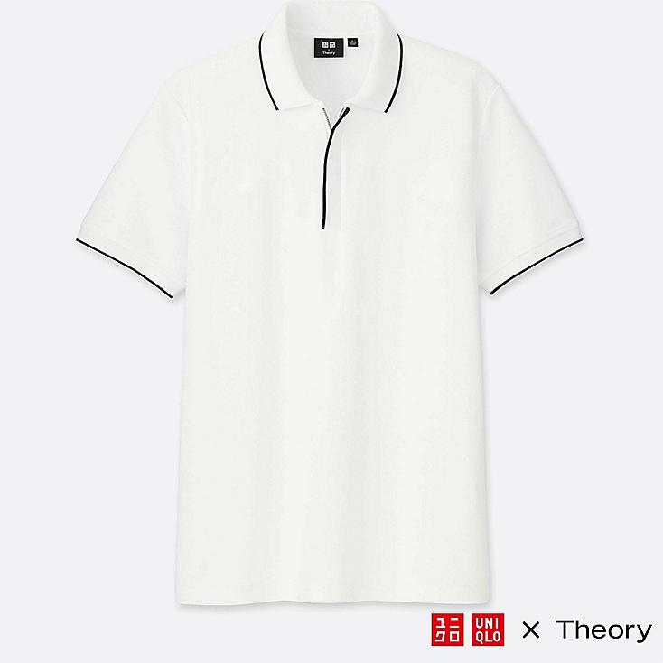MEN THEORY X UNIQLO DRY COMFORT SHORT SLEEVE ZIP POLO SHIRT
