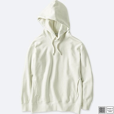 MEN UNIQLO U LONG SLEEVE HOODED SWEATSHIRT