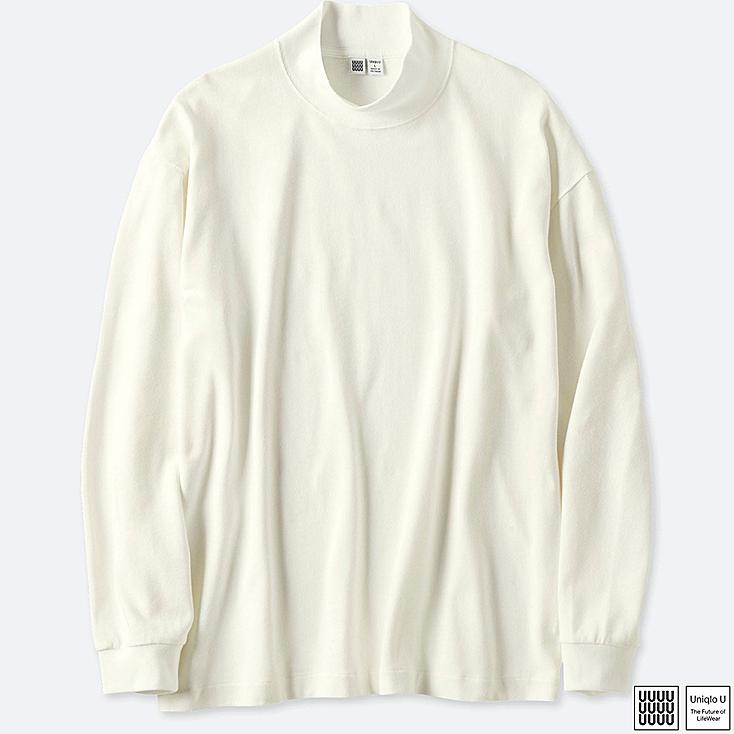 U T-SHIRT OVERSIZED COL MONTANT HOMME