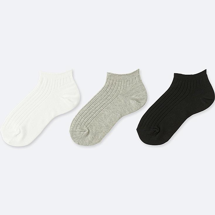 WOMEN SHORT SOCKS (3 PAIRS) (RIB)