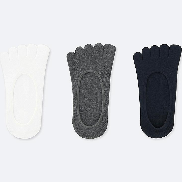 WOMEN FOOTSIES (3 PAIRS) (ONLINE EXCLUSIVE), WHITE, large