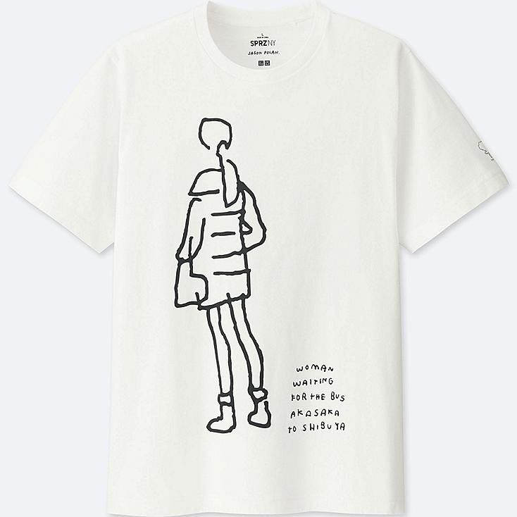 MEN SPRZ NY Short Sleeve Graphic T-Shirt (JASON POLAN), WHITE, large