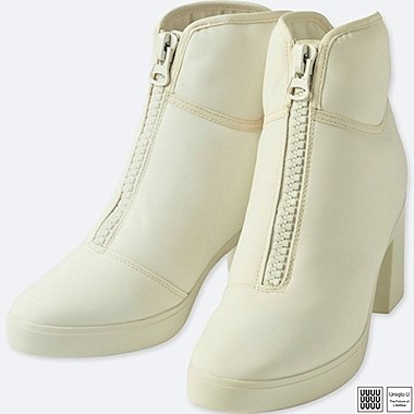 WOMEN UNIQLO U HEELED SHORT BOOTS