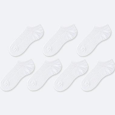 MEN SHORT SOCKS (7 PACK) (ONLINE EXCLUSIVE), WHITE, medium