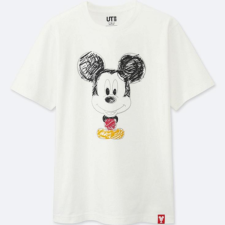 MEN MICKEY 100 SHORT-SLEEVE GRAPHIC T-SHIRT, WHITE, large