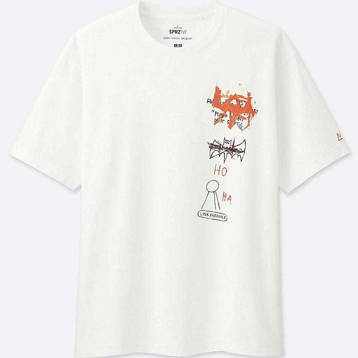 MEN SPRZ NY SHORT-SLEEVE GRAPHIC T-SHIRT (Jean-Michel Basquiat), WHITE, large