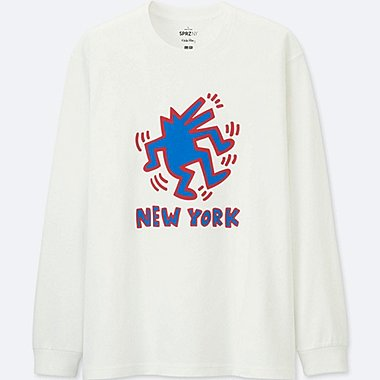 MEN SPRZ NY LONG-SLEEVE GRAPHIC T-SHIRT (KEITH HARING), WHITE, medium