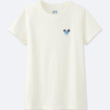 WOMEN MICKEY BLUE SHORT-SLEEVE GRAPHIC T-SHIRT, WHITE, medium