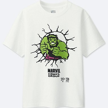 BOYS MARVEL COLLECTION SHORT-SLEEVE GRAPHIC T-SHIRT, WHITE, medium