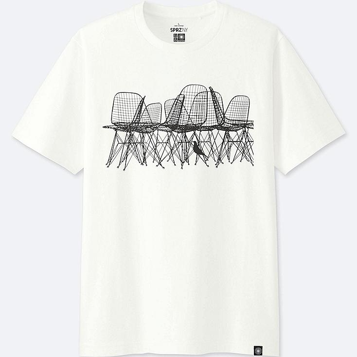 MEN SPRZ NY EAMES SHORT-SLEEVE GRAPHIC T-SHIRT, WHITE, large