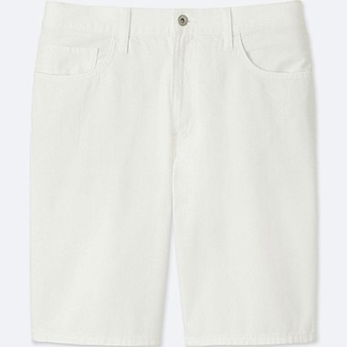 MEN DENIM SHORTS, WHITE, medium