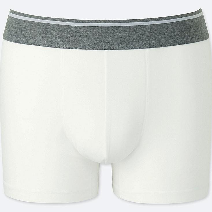 MEN SUPIMA® COTTON LOW-RISE BOXER BRIEFS, WHITE, large