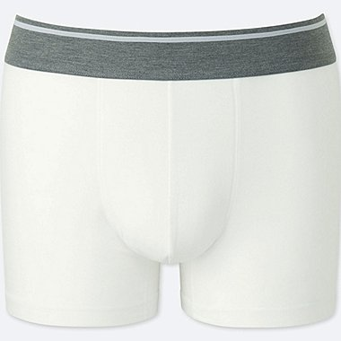 MEN SUPIMA® COTTON LOW-RISE BOXER BRIEFS, WHITE, medium